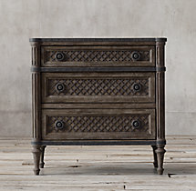 "Louis XVI Treillage 30"" Closed Nightstand"