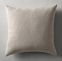 Belgian Linen Cross Weave Knife Edge Pillow Cover - Square