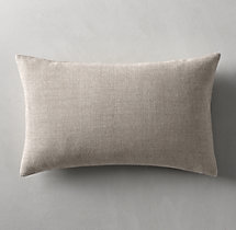 Belgian Linen Cross Weave Knife Edge Pillow Cover - Lumbar