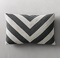 Geometric Soutache Linen Bevel Pillow Cover - Lumbar
