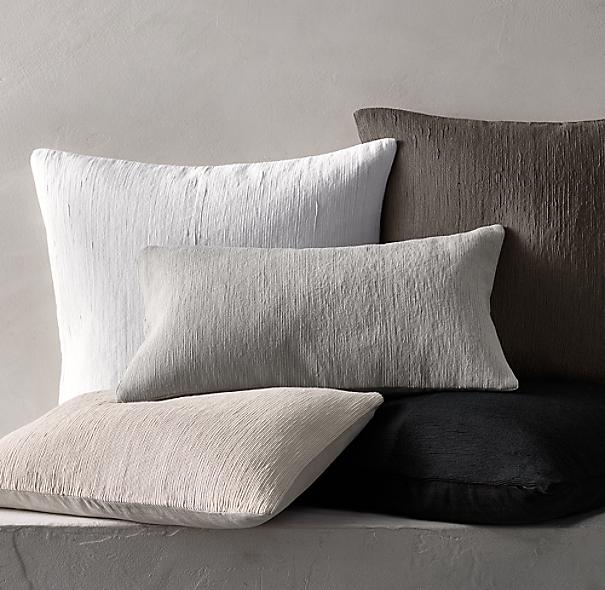 Geometric Soutache Linen Solid Pillow Cover