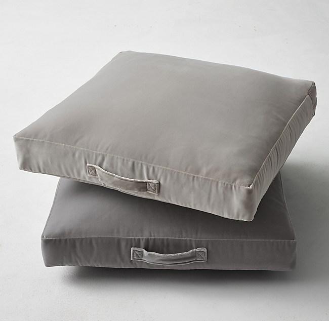 Custom Italian Cotton Velvet Floor Pillow