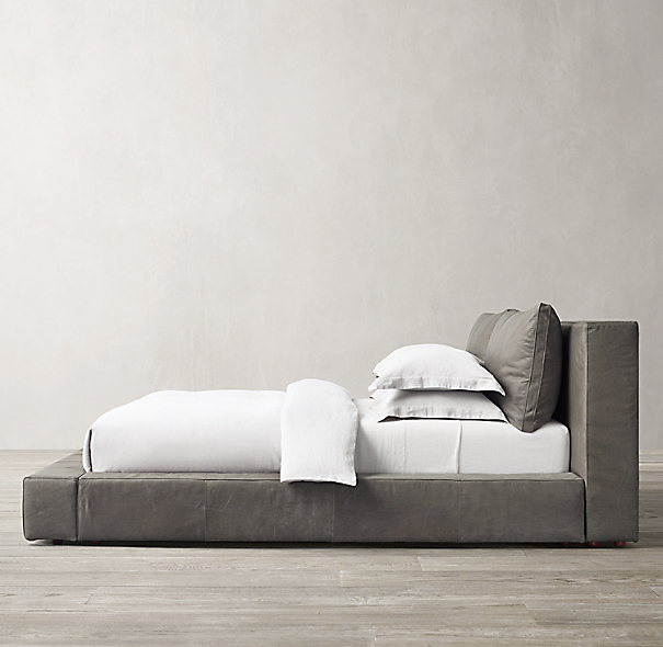 Cloud Platform Leather Bed