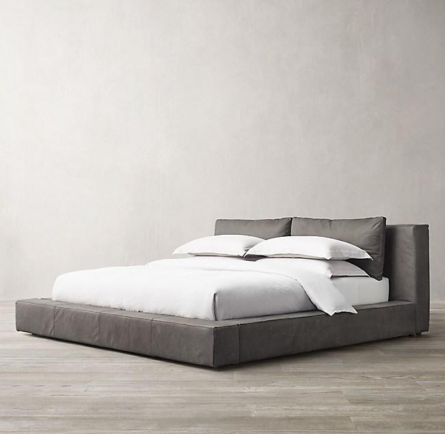 Cloud Platform Leather Bed