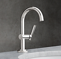 Spritz single hole faucet for Restoration hardware bathroom faucets