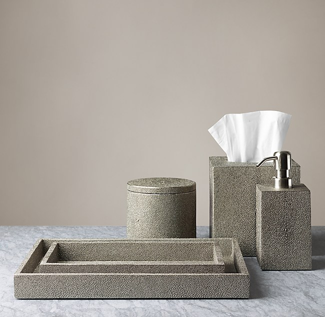 shagreen bath accessories smoke