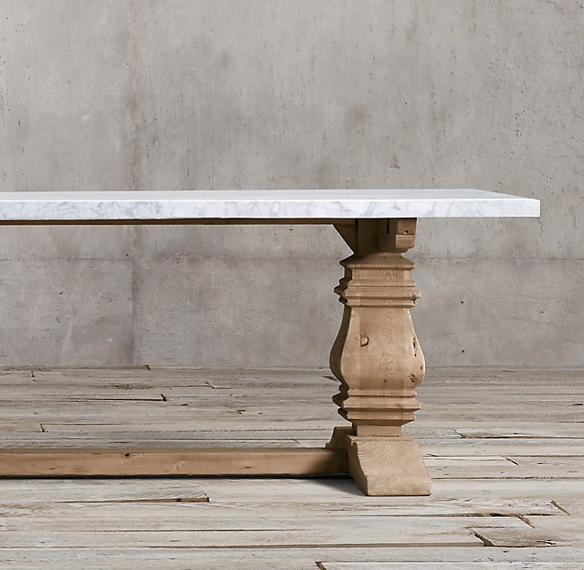 Simple prod E DTL RS Contemporary - Best of restoration hardware salvaged wood table Trending