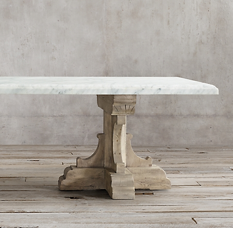 More Sizes Finishes 17th C French Bastide Oak Marble Rectangular Dining Table
