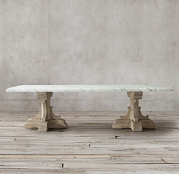 17th C French Bastide Oak Amp Marble Rectangular Dining Table