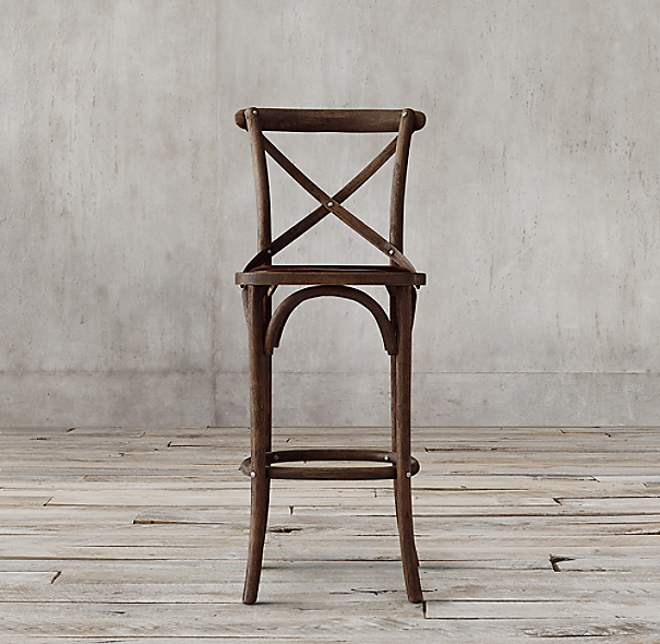 Madeleine armless leather stool - Madeleine bar stool ...