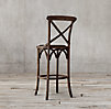Madeleine Armless Leather Stool