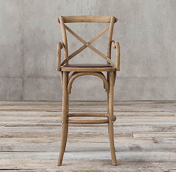 Madeleine Leather Stool