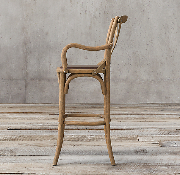 Madeleine leather stool - Madeleine bar stool ...