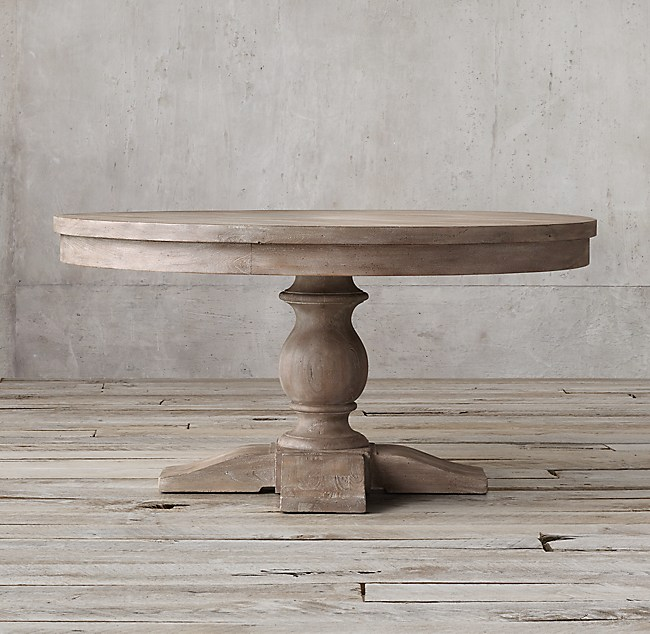 Restoration Hardware Kitchen Tables: 17th C. Priory Round Dining Table