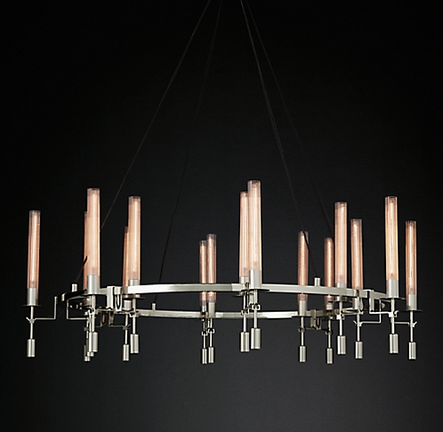 Fontanelle round chandelier collection rh modern aloadofball Gallery