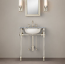 Gramercy Powder Glass Washstand