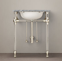 Gramercy Glass Powder Washstand Base