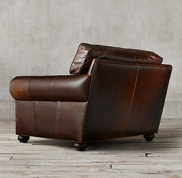 Original Lancaster Leather Chair And A Half
