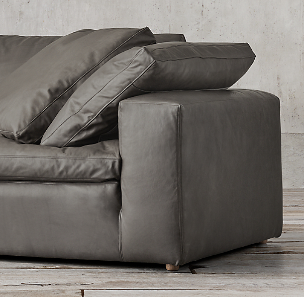 Preconfigured Cloud Modular Leather Sofa