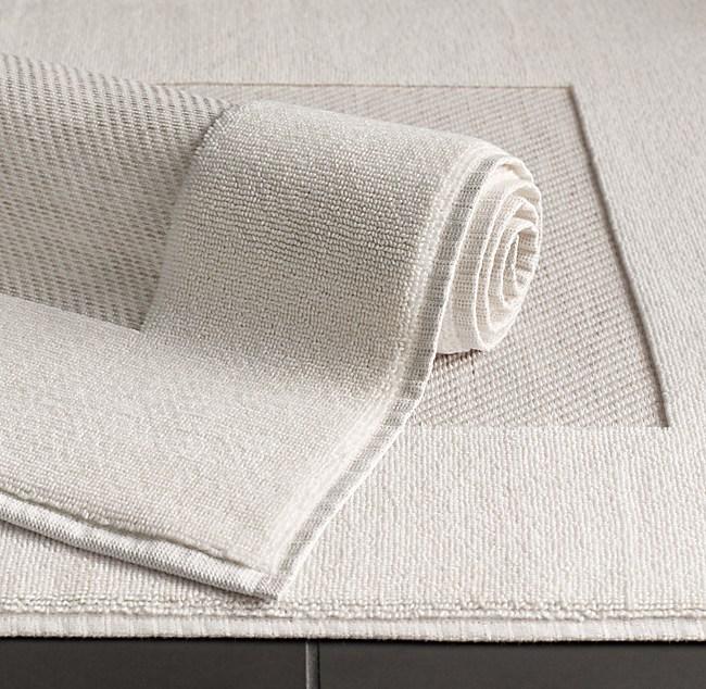 Heathered Cotton Linen Reversible Bath Mat