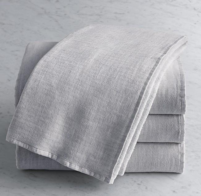 Heathered Cotton Linen Reversible Bath Towel