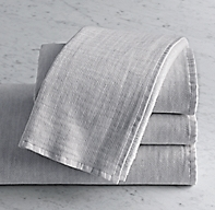 Heathered Cotton-Linen Reversible Hand Towel