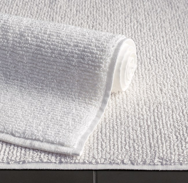 ribbed cotton linen terry bath mat. Black Bedroom Furniture Sets. Home Design Ideas