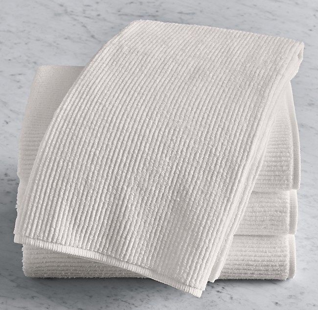 Ribbed Cotton Linen Terry Bath Towel