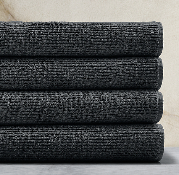 Ribbed Cotton Linen Terry Towel Collection