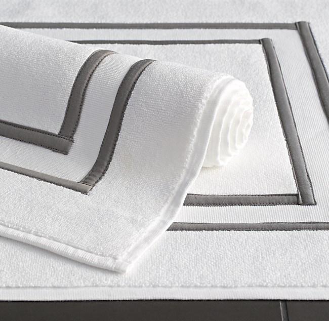 parallel border turkish cotton bath mat - Cotton Bathroom Mat