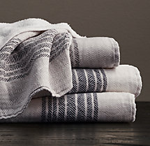 Japanese Herringbone Stripe Cotton Guest Towel