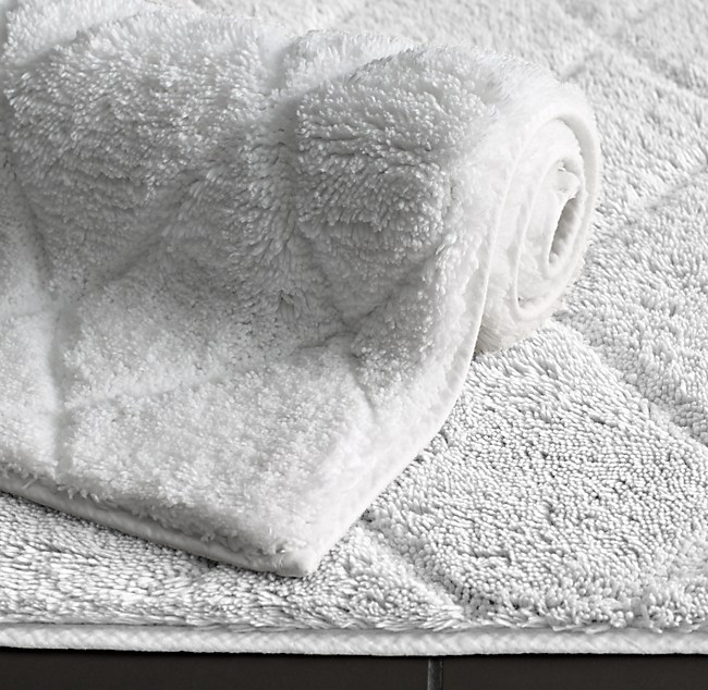 Double Vanity Bath Runner bath rugs | rh