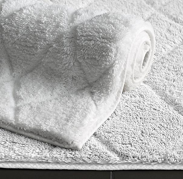 Ultra Soft High Pile Plush Bath Mat Rug 21in X 34in Non: Diamond Cotton Bath Rug
