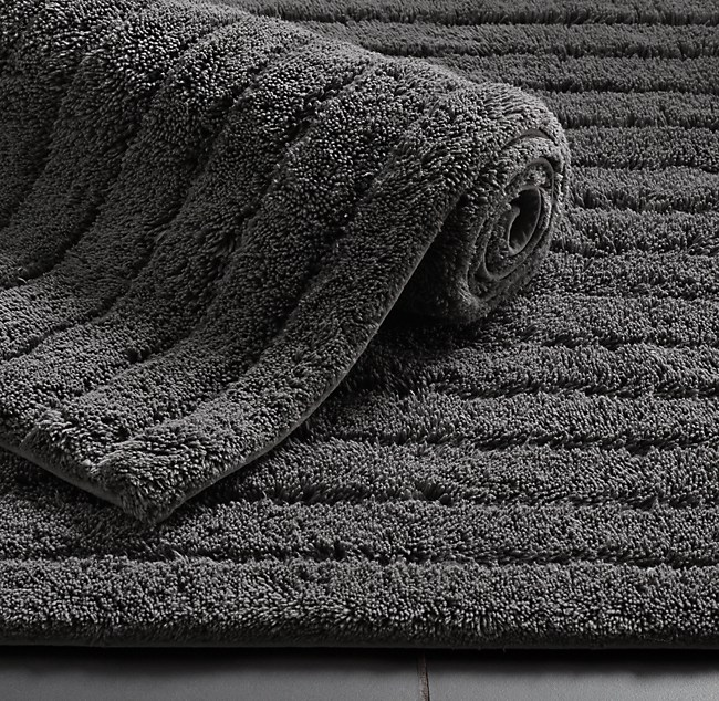 Double Vanity Bathroom Rugs cotton bath rug collection | rh