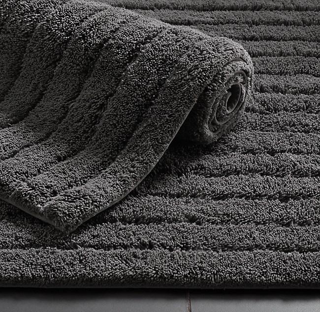 Ribbed Cotton Bath Rug