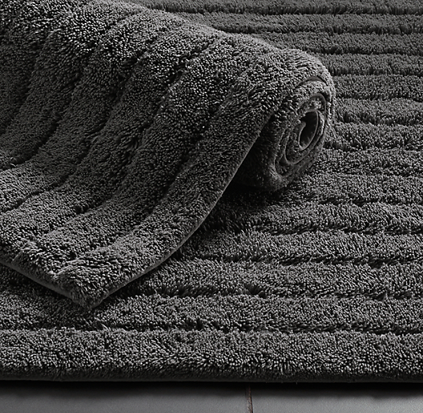 Ultra Soft High Pile Plush Bath Mat Rug 21in X 34in Non: Ribbed Cotton Bath Rug