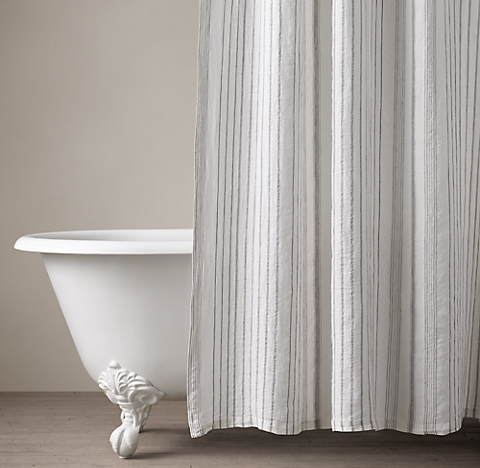 Cotton Linen Shower Curtain Collection Rh