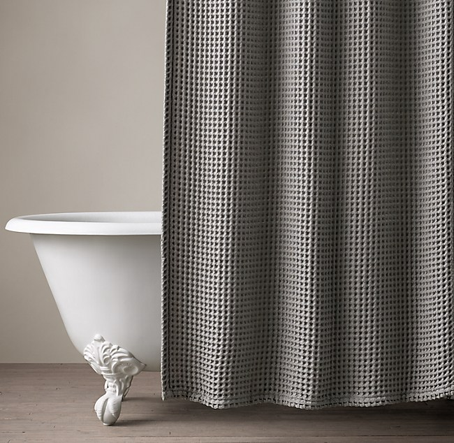 Waffle Weave Shower Curtain