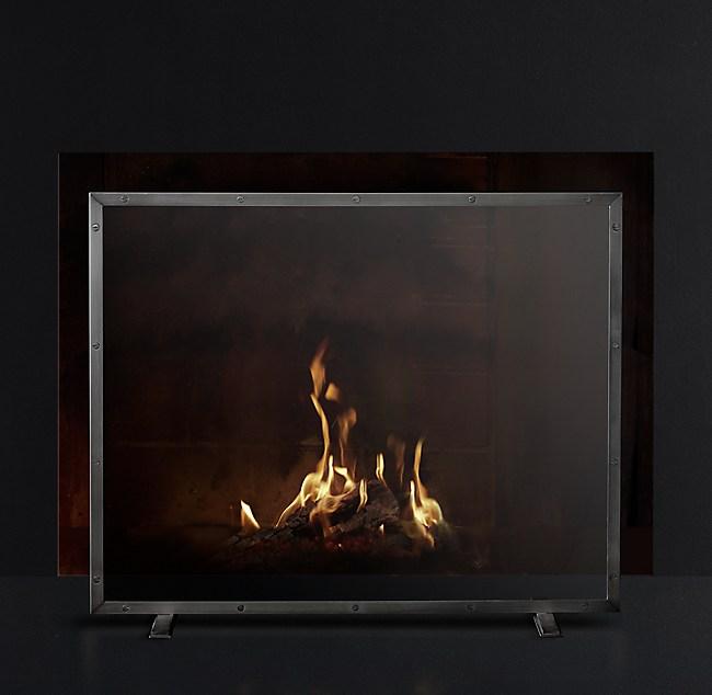 Glass panel fireplace screen courchevel glass panel fireplace screen teraionfo
