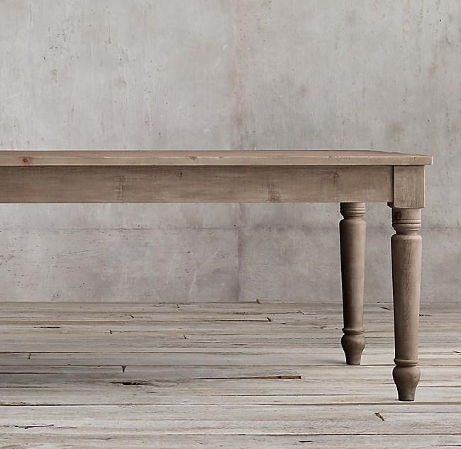 Th C English Farmhouse Rectangular Dining Table - Rectangular farm dining table