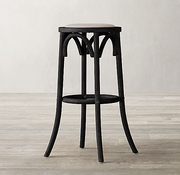 Madeleine backless fabric stool - Madeleine bar stool ...