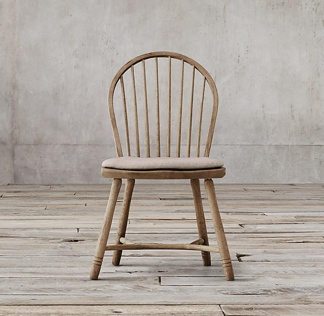 18th C Bow Back Windsor Side Chair Cushion