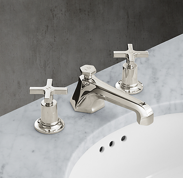 1930 mackintosh cross handle 8 widespread faucet for Restoration hardware bathroom faucets