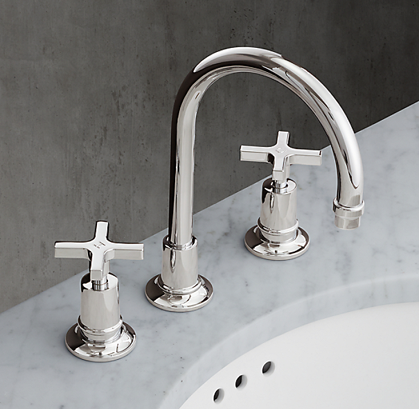 1940 Fleetwood Cross Handle 8 Widespread Gooseneck Faucet