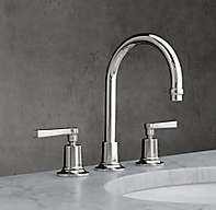 1940 Fleetwood Lever Handle 8 Widespread Gooseneck Faucet