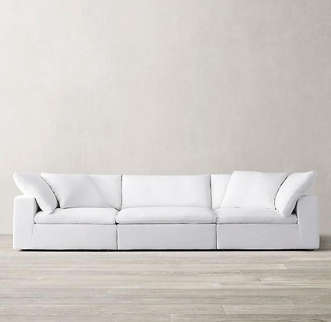 3 Depths 2 Fills 16 Stocked Fabrics Cloud Modular Sofa