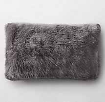 Ultra Faux Fur Oversized Throw Graphite