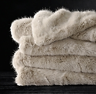 Ultra Faux Fur Throw - Dune