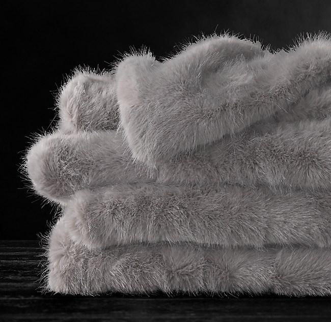 2b37d931f Ultra Faux Fur Throw - Fog