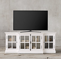 "French Casement 80"" Glass Media Console"